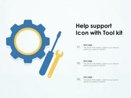 Help Support Icon With Tool Kit