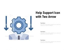 Help Support Icon With Two Arrow