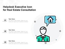 Helpdesk Executive Icon For Real Estate Consultation