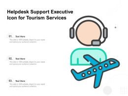 Helpdesk Support Executive Icon For Tourism Services