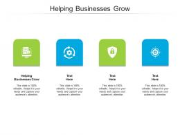 Helping Businesses Grow Ppt Powerpoint Presentation Gallery Vector Cpb