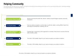 Helping Community Company Culture And Beliefs Ppt Pictures