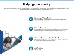 Helping Community Ppt Powerpoint Presentation Show Display