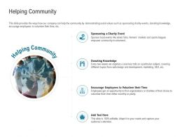 Helping Community Two Weeks Ppt Powerpoint Presentation Inspiration Visual Aids
