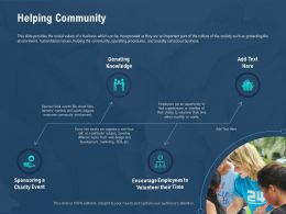 Helping Community Volunteer Their Time Ppt Powerpoint Presentation Infographics Maker