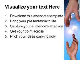 Helping Hand Religion PowerPoint Template 0610  Presentation Themes and Graphics Slide03