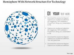 Hemisphere With Network Structure For Technology Ppt Slides