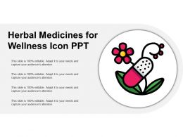 Herbal Medicines For Wellness Icon Ppt