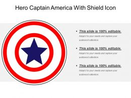 Hero Captain America With Shield Icon