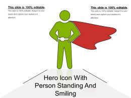 Hero Icon With Person Standing And Smiling