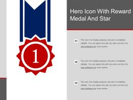 Hero Icon With Reward Medal And Star
