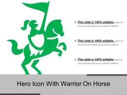 Hero Icon With Warrior On Horse