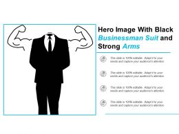 Hero Image With Black Businessman Suit And Strong Arms