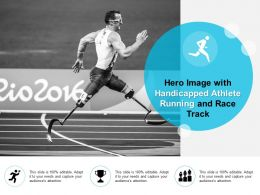 Hero Image With Handicapped Athlete Running And Race Track