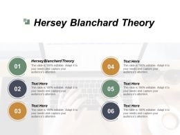 Hersey Blanchard Theory Ppt Powerpoint Presentation Inspiration Visuals Cpb
