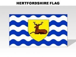 Hertfordshire Country Powerpoint Flags