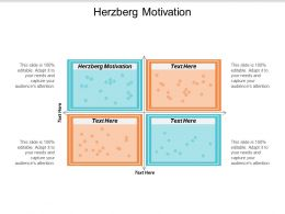 Herzberg Motivation Ppt Powerpoint Presentation Gallery Influencers Cpb