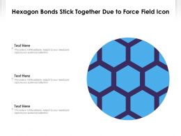 Hexagon Bonds Stick Together Due To Force Field Icon