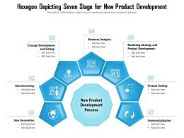 Hexagon Depicting Seven Stage For New Product Development