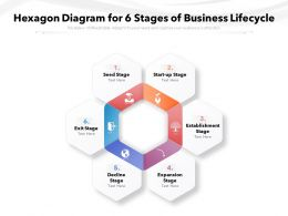 Hexagon Diagram For 6 Stages Of Business Lifecycle