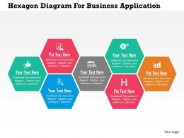 Hexagon Diagram For Business Application Flat Powerpoint Design