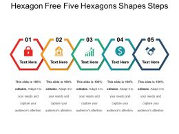 Hexagon Free Five Hexagons Shapes Steps