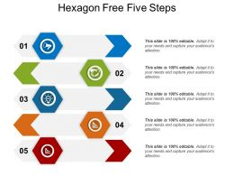 Hexagon Free Five Steps