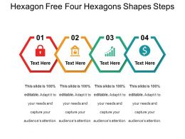 Hexagon Free Four Hexagons Shapes Steps