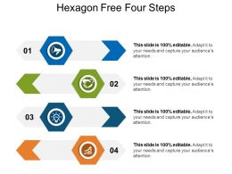 Hexagon Free Four Steps