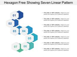 Hexagon Free Showing Seven Linear Pattern