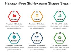 Hexagon Free Six Hexagons Shapes Steps