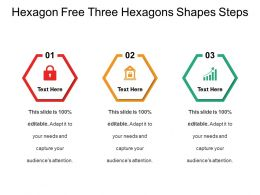 Hexagon Free Three Hexagons Shapes Steps
