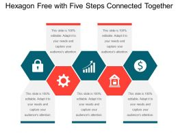 Hexagon Free With Five Steps Connected Together