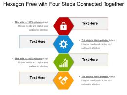 Hexagon Free With Four Steps Connected Together