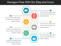 Hexagon Free With Six Step And Icons