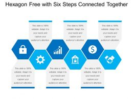 Hexagon Free With Six Steps Connected Together