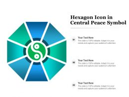 Hexagon Icon In Central Peace Symbol