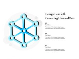 Hexagon Icon With Connecting Lines And Dots