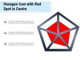 Hexagon Icon With Red Spot In Centre