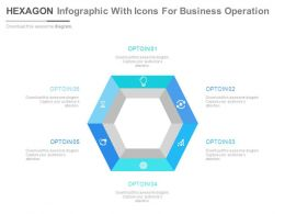 Hexagon Infographic With Icons For Business Operations Flat Powerpoint Design