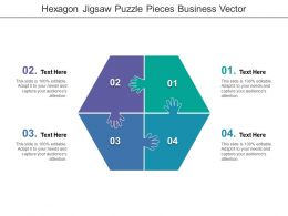 Hexagon Jigsaw Puzzle Pieces Business Vector