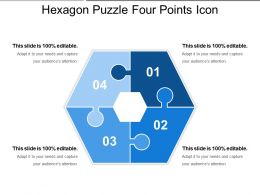 Hexagon Puzzle Four Points Icon