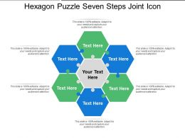 Hexagon Puzzle Seven Steps Joint Icon