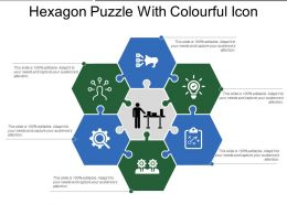 Hexagon Puzzle With Colourful Icon