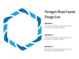 Hexagon Shape Layout Design Icon