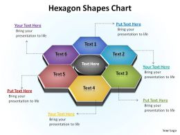 hexagon shapes showing relationships chart ppt slides presentation diagrams templates powerpoint info graphics