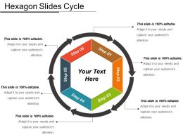 Hexagon Slides Cycle PowerPoint Slide Clipart