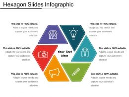 Hexagon Slides Infographic Powerpoin Deck Template
