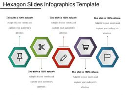 Hexagon Slides Infographics Template Ppt Icon