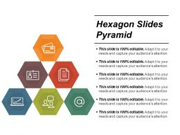 Hexagon Slides Pyramid Ppt Background Images